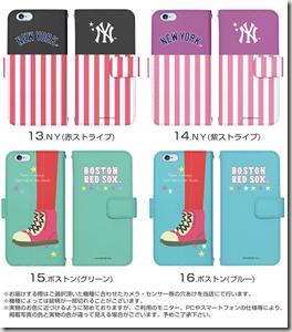 手帳型スマホケース「MLBデザインコレクション」03