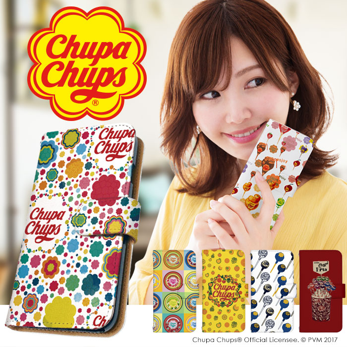 手帳型デザインスマホケース[Chupa Chups(チュッパチャップス)]のご紹介!