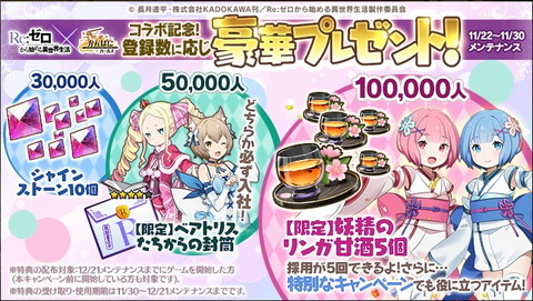 『かんぱに☆ガールズ』「リゼロコラボ記念事前登録キャンペーン」開催!