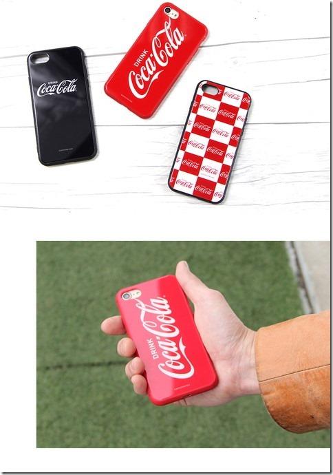 ガラスハイブリッドスマホケース_Coca Cola(コカコーラ)_画像01