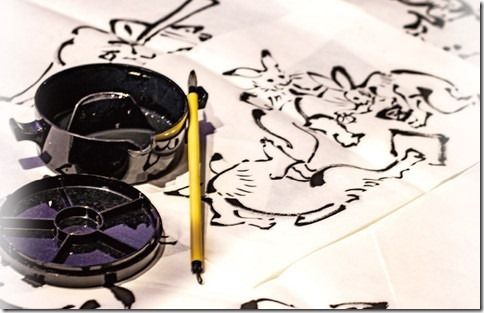 手帳型デザインケース_鳥獣戯画-野球編_画像01